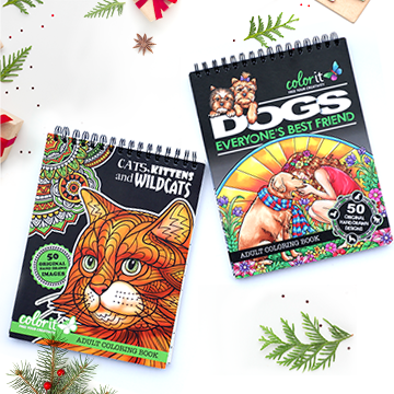 48 Gel Pens Set + A Colorful Christmas Coloring Book
