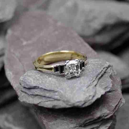 An Asscher diamond ring