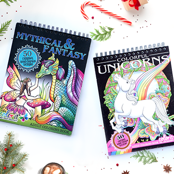 Fantasy Lovers Coloring Books Bundle