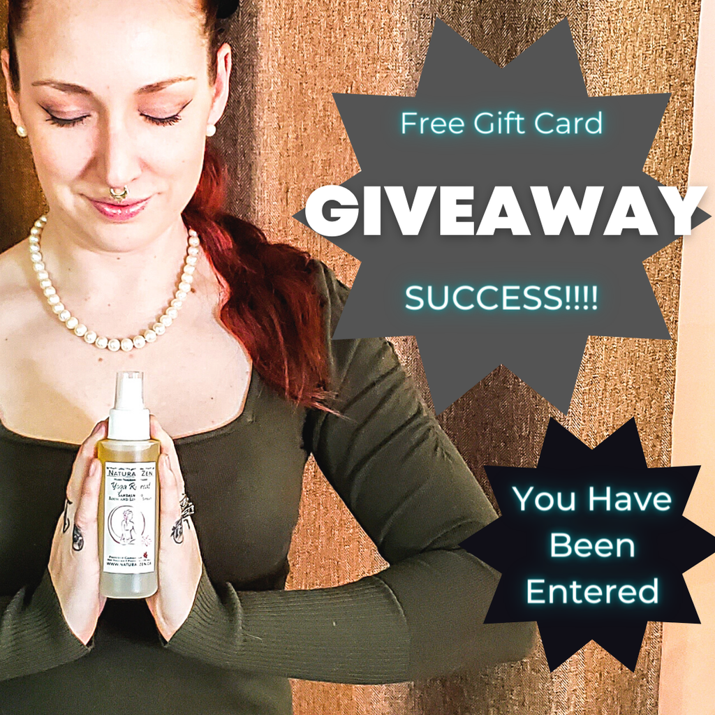 You have successfully entered our giveaway for a $50 card from natural Zen. Good luck.