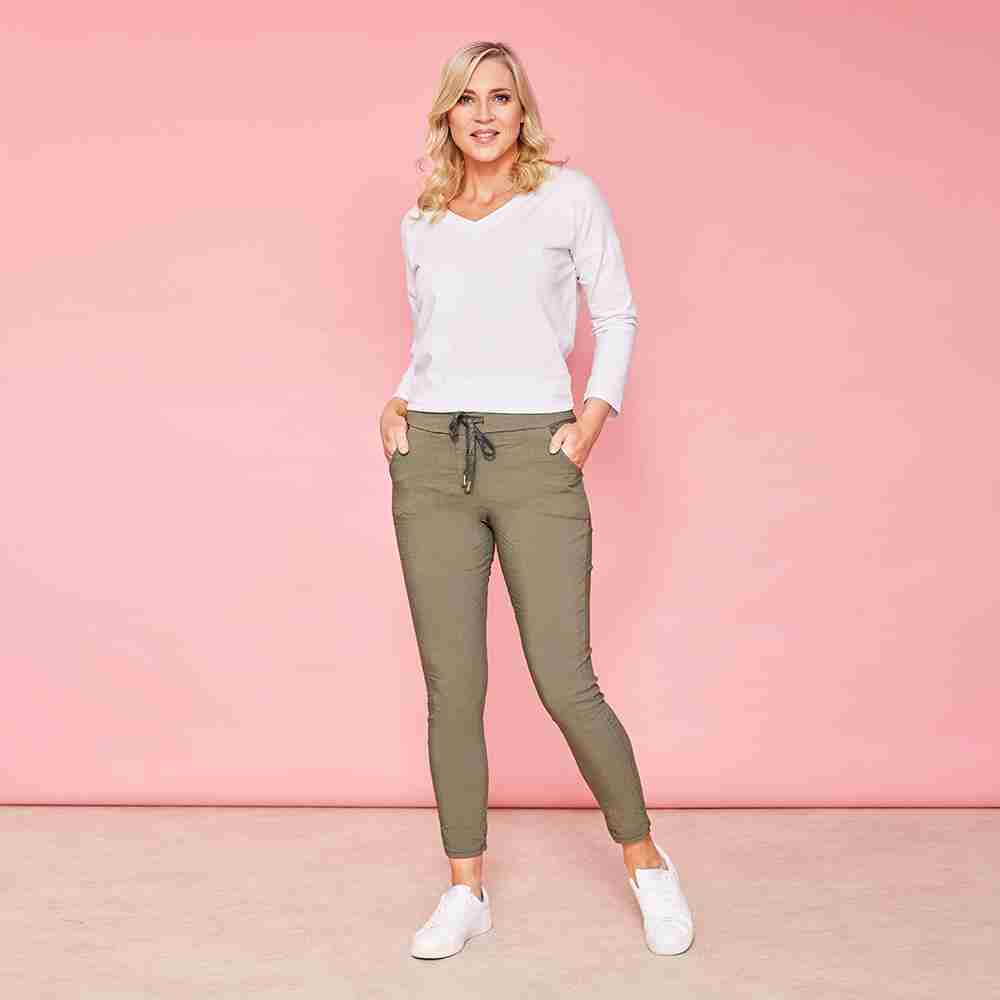 Charlie Relaxed Stretch Jogger(Khaki)