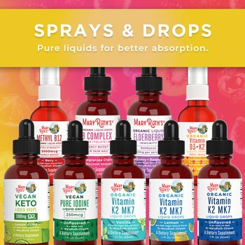 MaryRuth Organics Sprays and Drops
