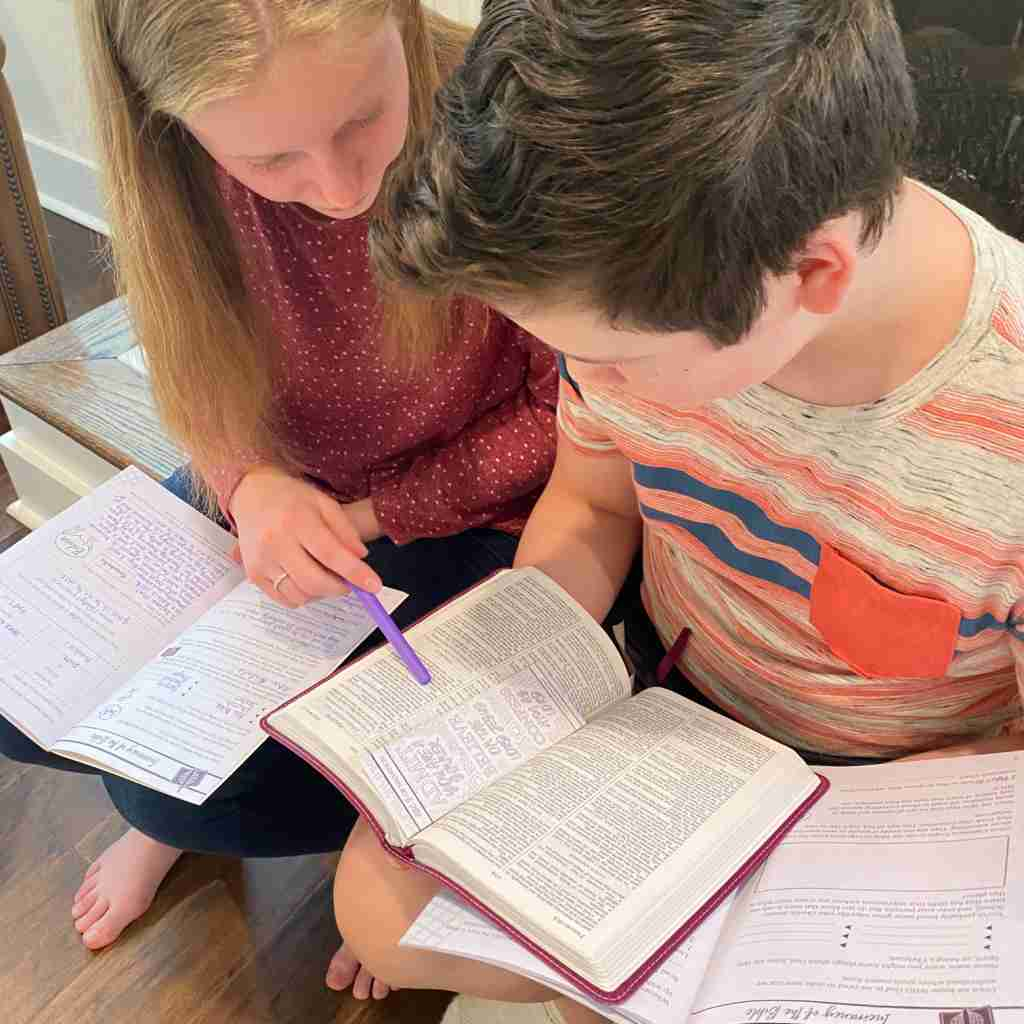 Bible study for kids and teens
