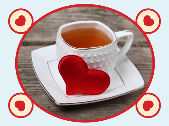 rooibos rocks cup with a heart