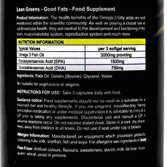 Premium super high quality omega 3 supplement label