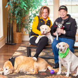 FOUNDER BILL AND HIS WIFE AND DOGS