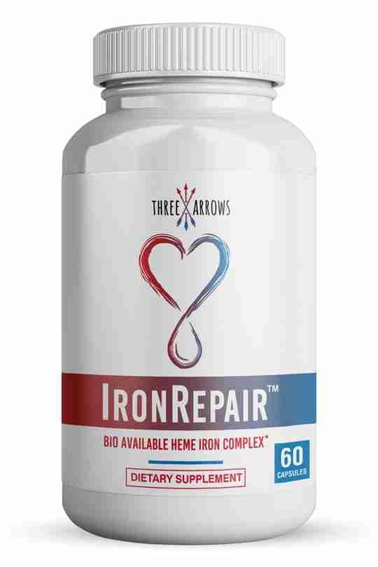 Three Arrows Iron Repair natural Heme Iron Supplement