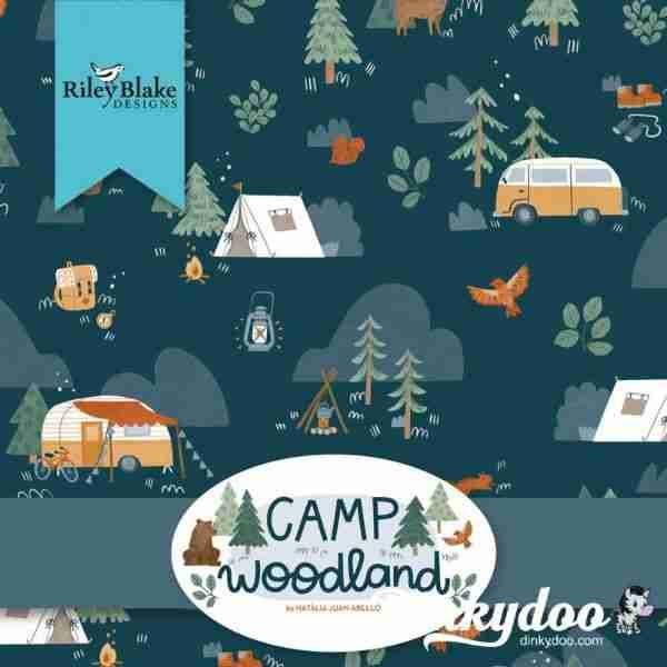 camp woodland fabric riley blake