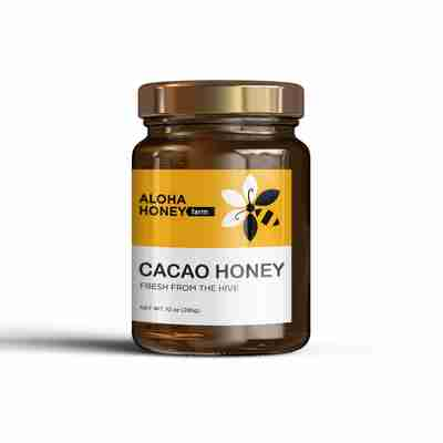 Raw Honey Infused with Cacao
