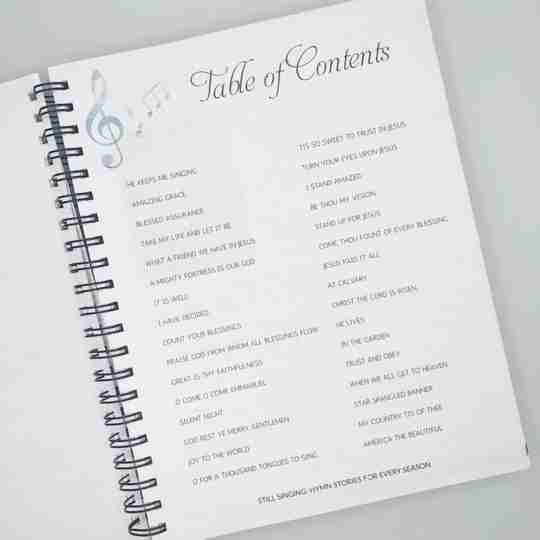 Still Singing table of contents