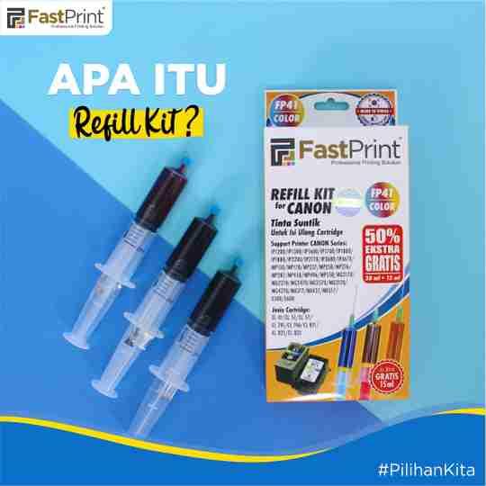 refill ink, refill kit, cartridge refill kit, isi ulang tinta