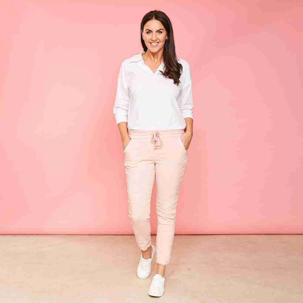 Charlie Relaxed Stretch Jogger (Peach)