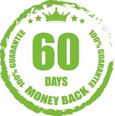 60 day money back guarantee on all Lean Greens products