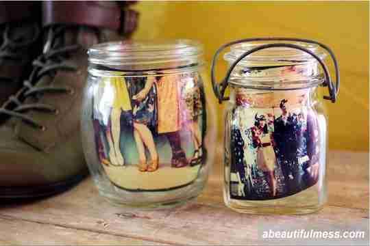 cara memajang foto, foto dalam jar, foto dalam stoples kaca