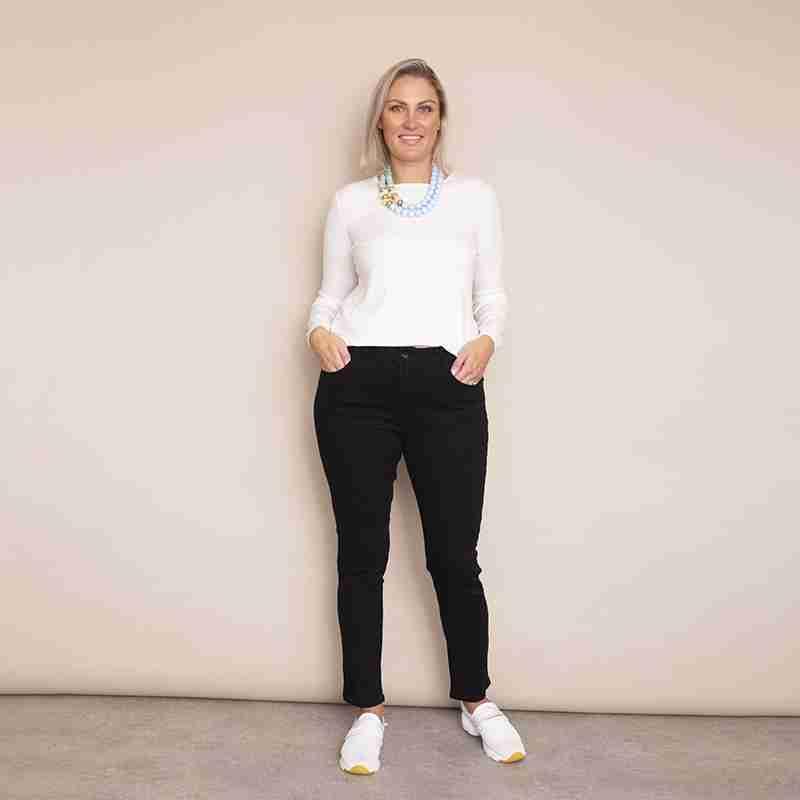 Fiona Denim Trouser - Plus Size (Black)