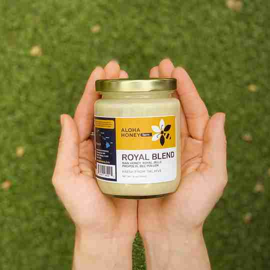 Raw Honey Royal Jelly Bee Pollen in one jar