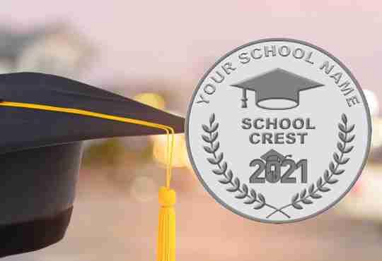 Custom Graduation Coin Mockup