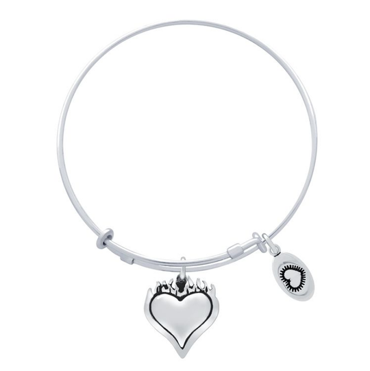 A bracelet with heart charms