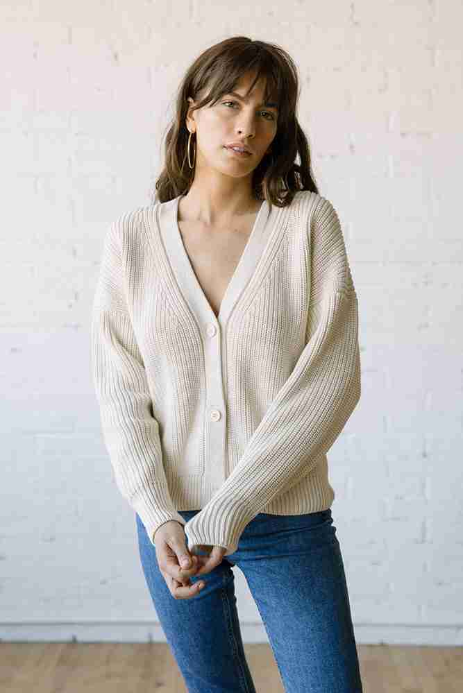 Shelter Cotton Cardigan Birch