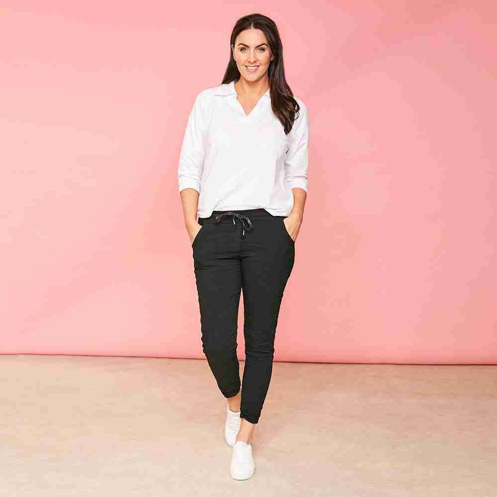 Charlie Relaxed Stretch Jogger (Black)