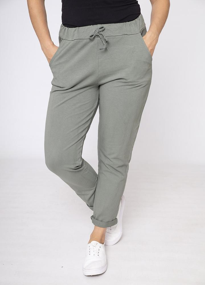 Drawstring Side Pocket Trouser Khaki