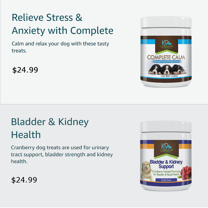 complete calm and bladder health for dogs