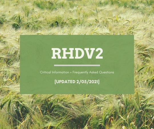 RHDV2 Update 2/05/2021