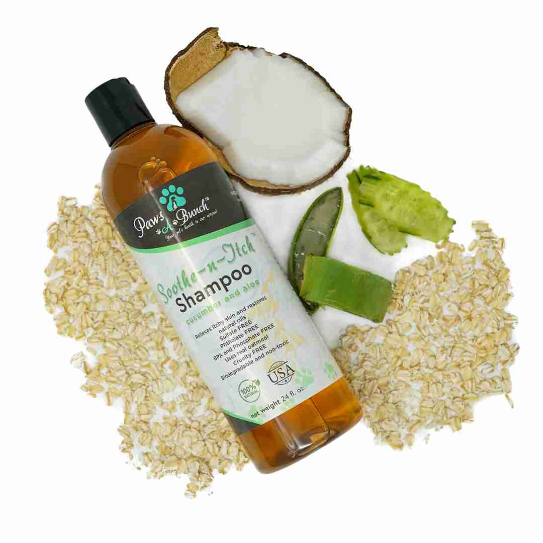 Soothe-n-Itch Shampoo by Paws-a-Bunch. Oatmeal Shampoo for Dogs and Cats Anti-Itch