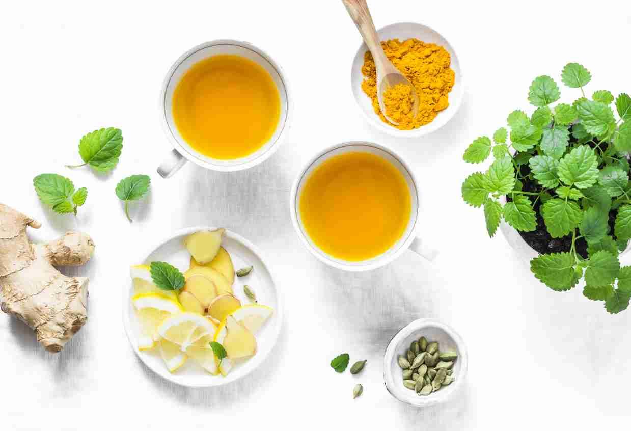 Ginger, lemon, bone broth, turmeric, and mint to boost immunity