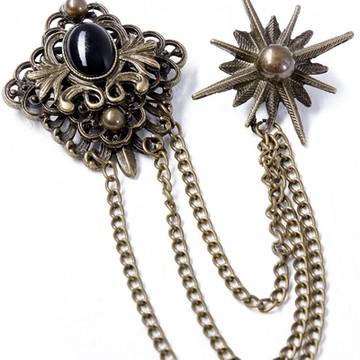 baroque brooch for the gunpowder gold men's vest