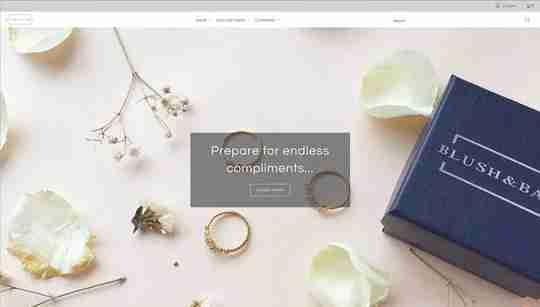 blush and bar homepage