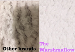 comparing the fleece of cheaper brands with the tighter denser weave & warmer fleece of The Marshmallow