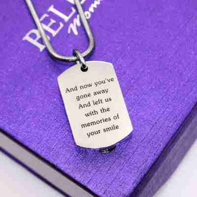 Memory Tag Personalized Cremation Necklace