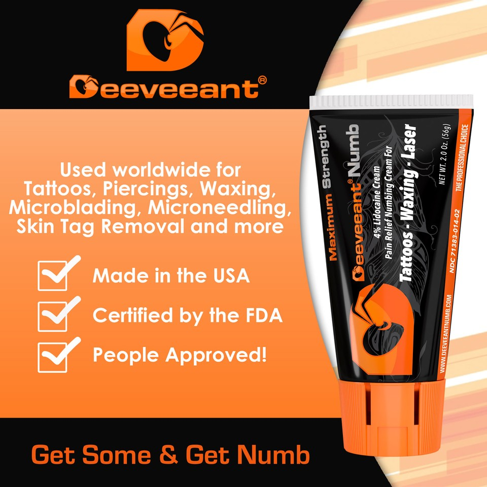 Deeveeant Numbing Cream Used Worldwide