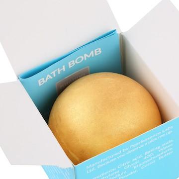 Cocoa butter bath bomb in box