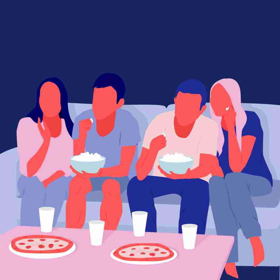 A great way to hold yourself accountable to the limits you set on your TV viewing is to watch with other people.