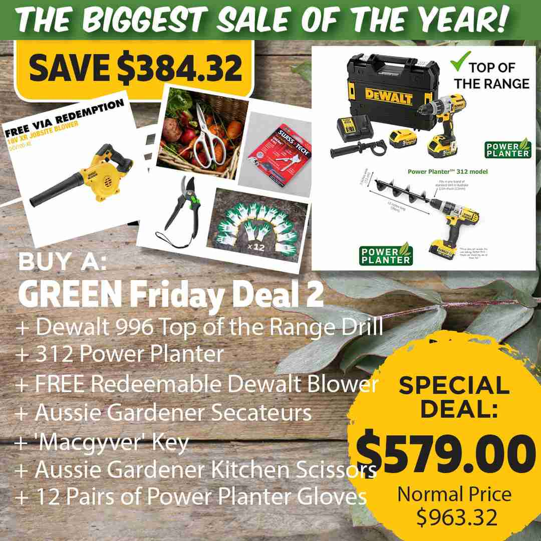 Green Friday Super Deal $963.32 value for just $579 - The biggest sale of the year.