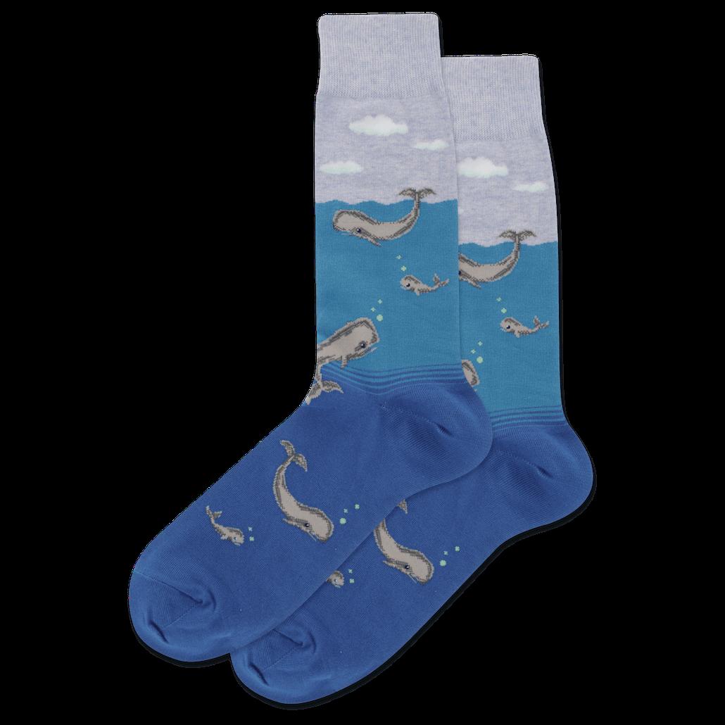 Gabby Maria Men's Whale Crew Socks