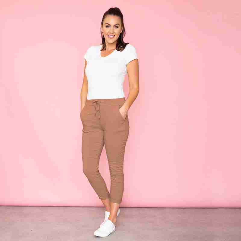 Sia Relaxed Stretch Jogger (Burnt Orange)