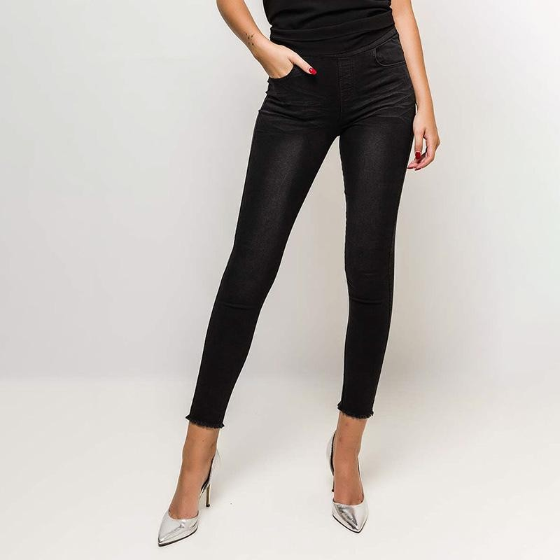 Classic High Waisted Jean Jeggings (Black)