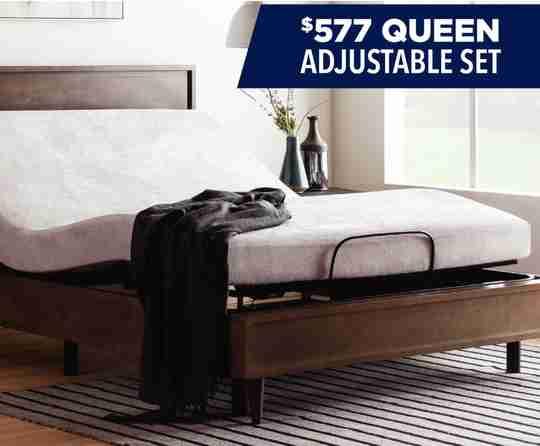 $577 Queen Adjustable Power Base & Mattress Set at Sleep First