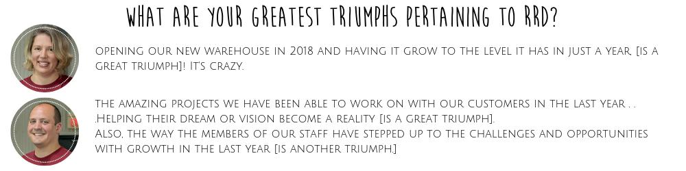 Greatest RRD Triumphs