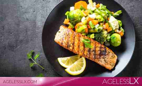 One Pan Roasted Salmon & Vegetables