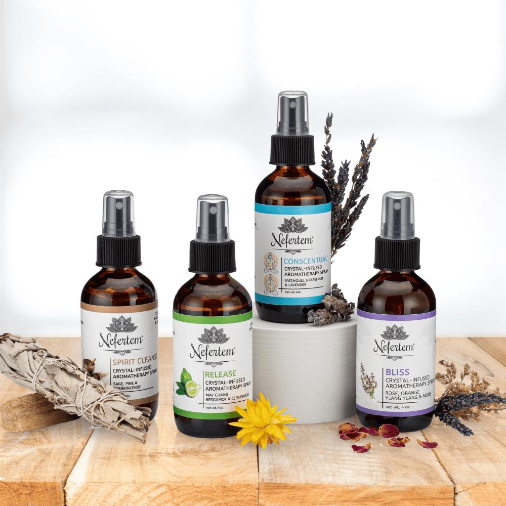 collection of aroma sprays by nefertem