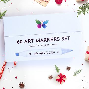 60 Premium Art Markers