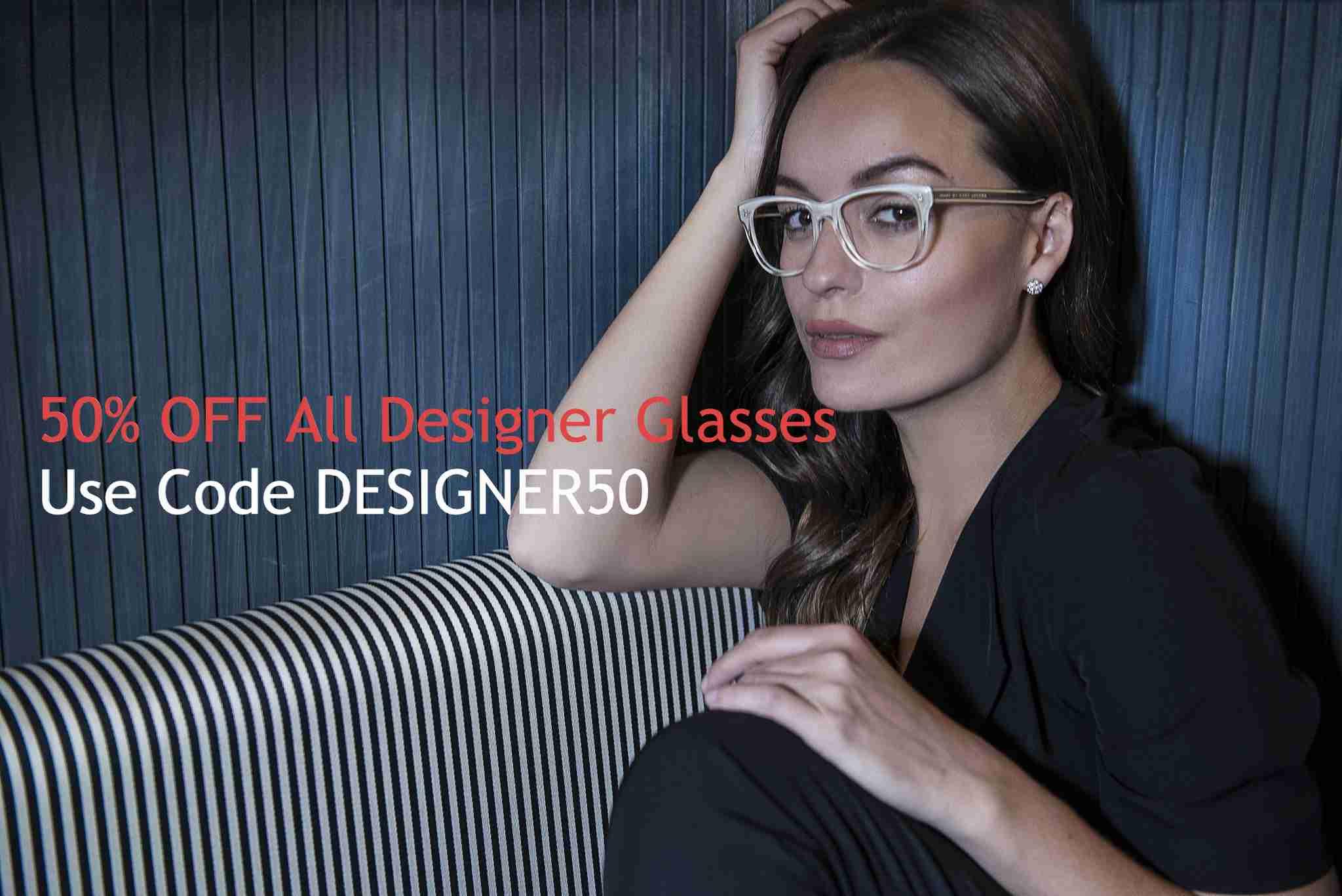 Designer glasses half price