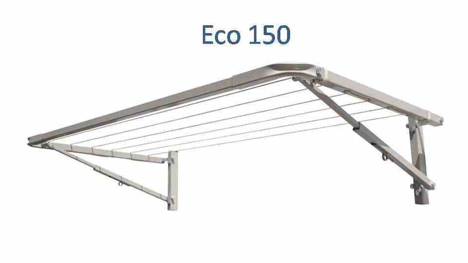 eco 150 1300mm wide clothesline deployed