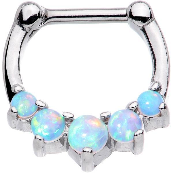 Opal Septum Rings
