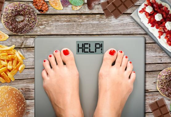 Overgewicht door teveel koolhydraten.