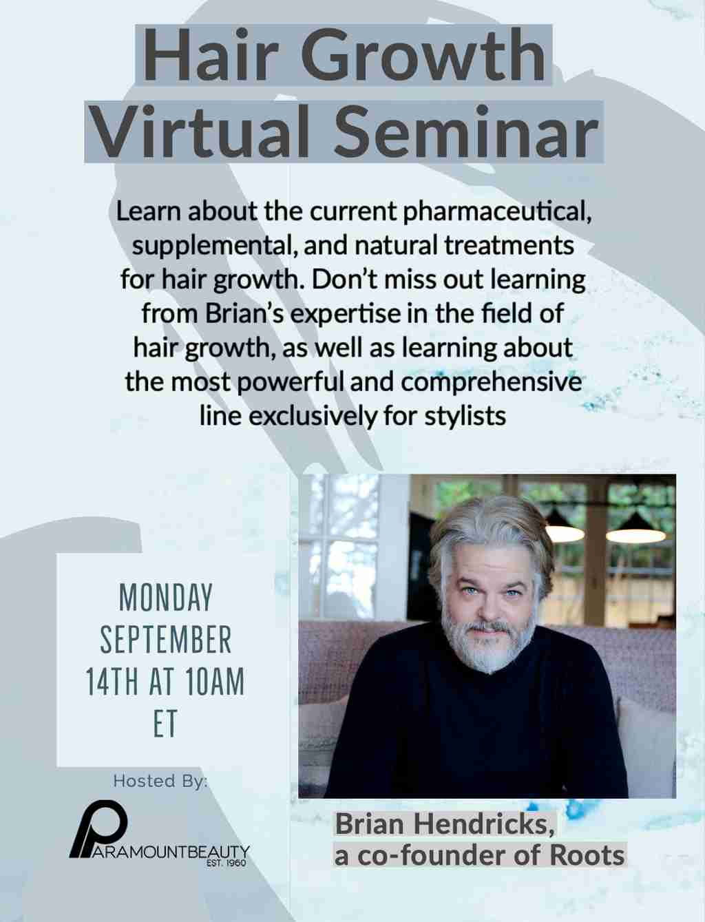 Hair Growth Virtual Seminar